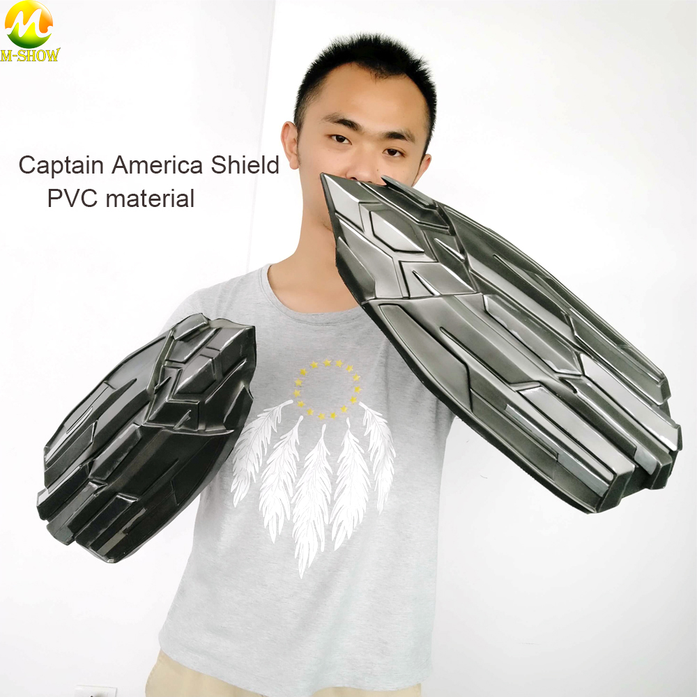 Captain America Shield The Avengers Weapons PVC Material Shield Cosplay Steve Rogers 50cm Shield Halloween Accessories
