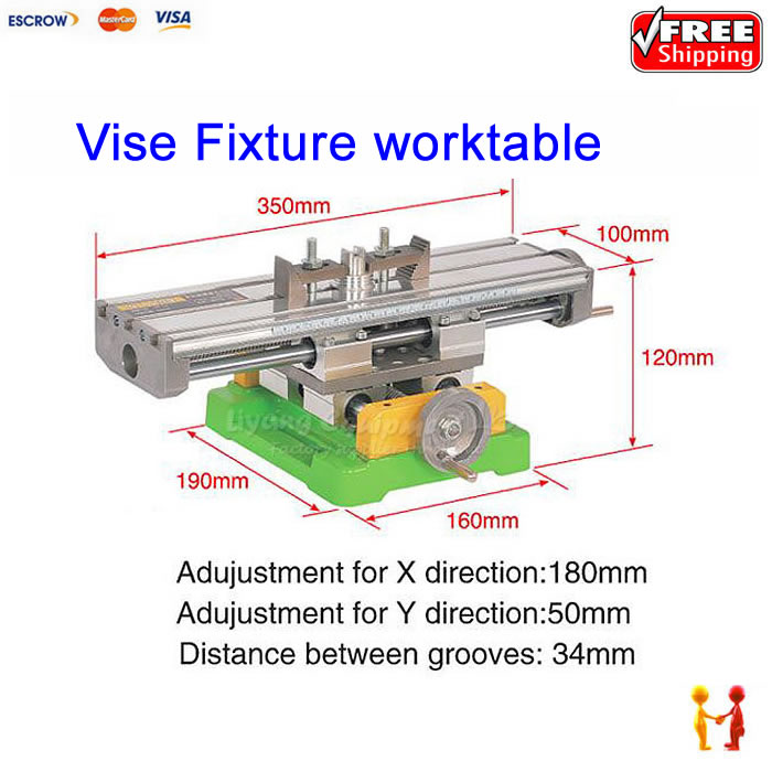 Cross Vice Jaw Bench Vice Workshop Clamp Work Bench Table X Y-axis adjustment vise cnc part