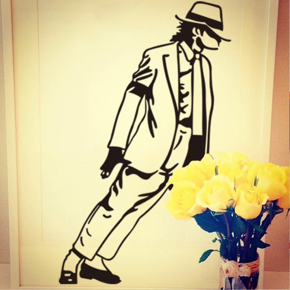 Michael Jackson Decorative Vinyl Wall Stickers Home Decor Living ...