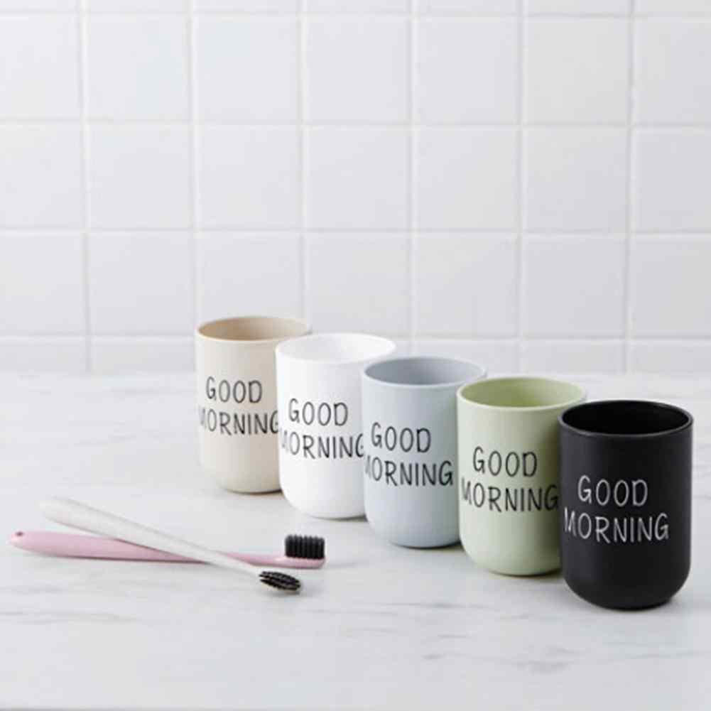 1 Pc 330ml טוב בוקר כוס מברשת שיניים מחזיק כביסה שתיית אמבטיה שן ספל