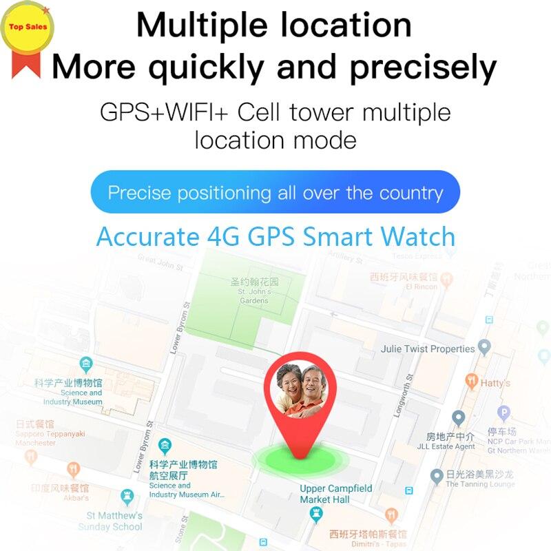 Smart 4G aîné montre GPS position précise appel téléphonique fréquence cardiaque moniteur de pression artérielle vidéo chat 700 mAh montres intelligentes hommes - 6