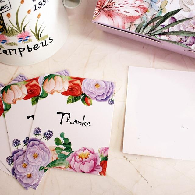 Mehrzweck 50 Stucke Mini Dank Karte Dame Rose Stil Scrapbooking