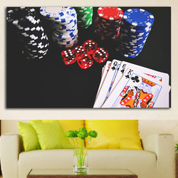Living Room Wall Art On Canvas Pictures HD Printed 1 Piece/Pcs Casino Chip Poke Modern Painting Home Decoration Posters Frame