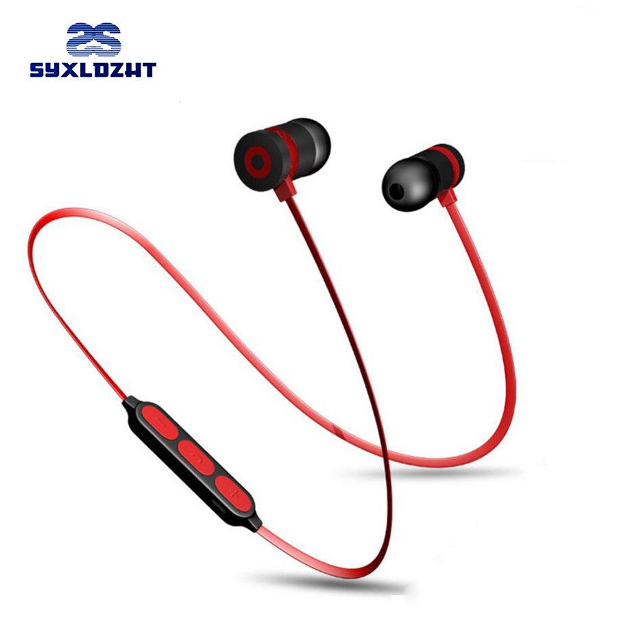 Bass Bluetooth Earphones Wireless Earphone Stereo Bluetooth Earbuds Magnetic in ear Headset With Mic audifonos For Phone anbes in ear wired earphone metal magnetic headset for phone with mic microphone super bass 3 5mm jack standard stereo earbuds