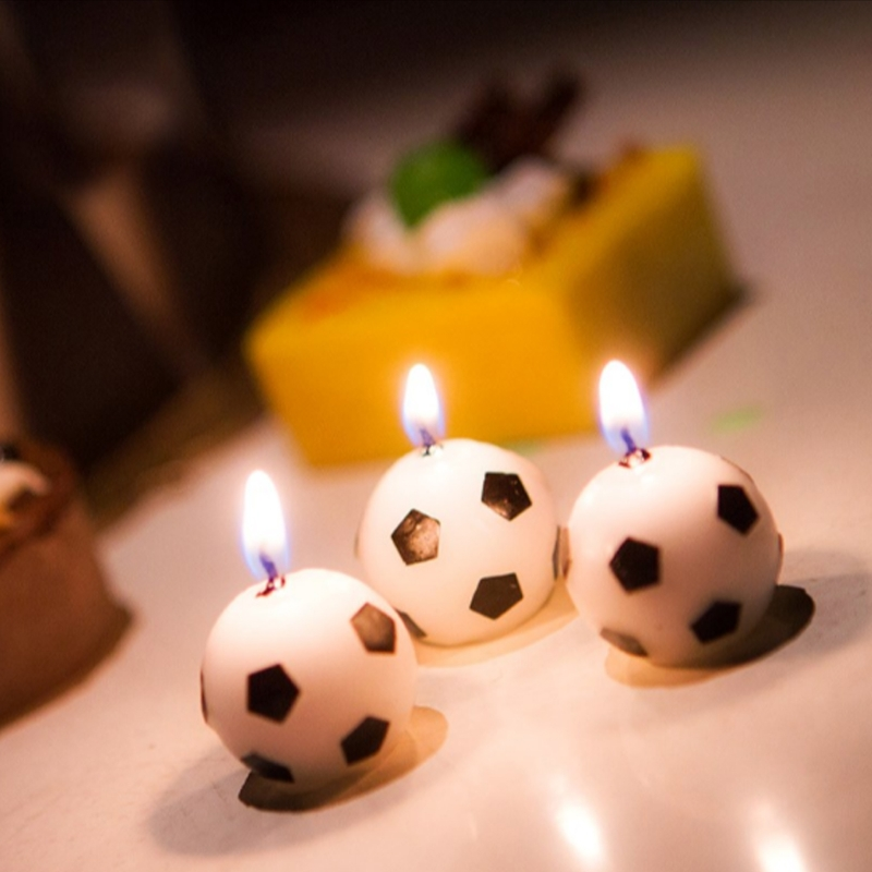 6Pcs/Set Soccer Ball Football Candles For Birthday Party Kid Supplies Decoration Drop Shipping