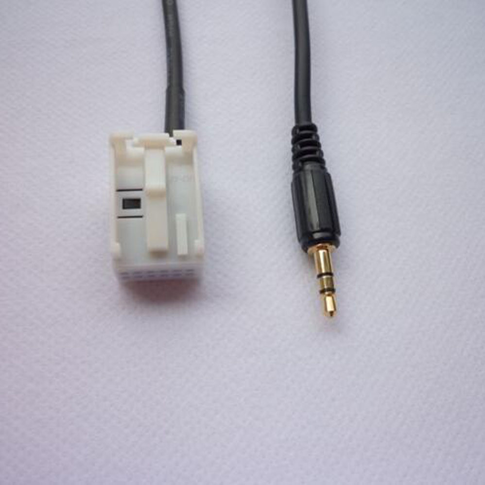 AUX AUDIO 3.5mm INPUT cable line for AUDI A4 A3 A6 TT A8 S4 IN 2007 2008 2009 2010 2012 2013 2014