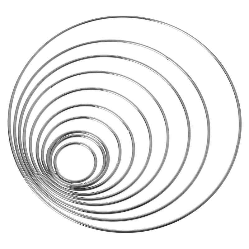 รอบเชื่อมโลหะ Dream Catcher Dreamcatcher แหวนหัตถกรรม Hoop อุปกรณ์เสริม DIY 10 ขนาด