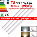 T8 led tube 1500MM 25w,AC85-265V,SMD2835,130led/pcs,warranty 2 years,SMTB-16-8