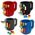 350 мл DIY Строительные Блоки Кубок Строить-на Кирпичной Кружка Творческий Lego Дизайн Кружки Кофе