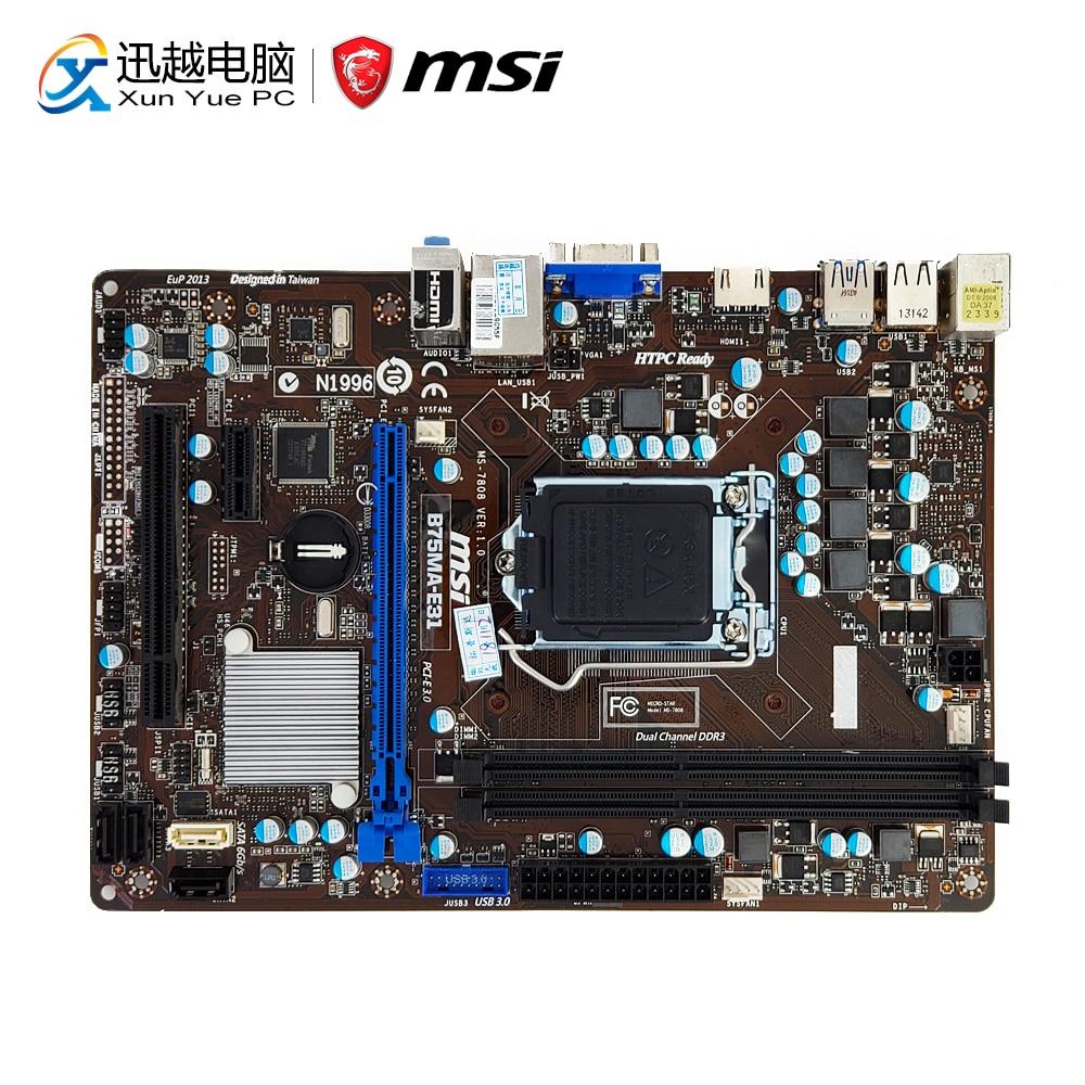цена MSI B75MA-E31 Desktop Motherboard B75 Socket LGA 1155 i3 i5 i7 DDR3 16G SATA3 USB3.0 VGA HDMI Micro-ATX