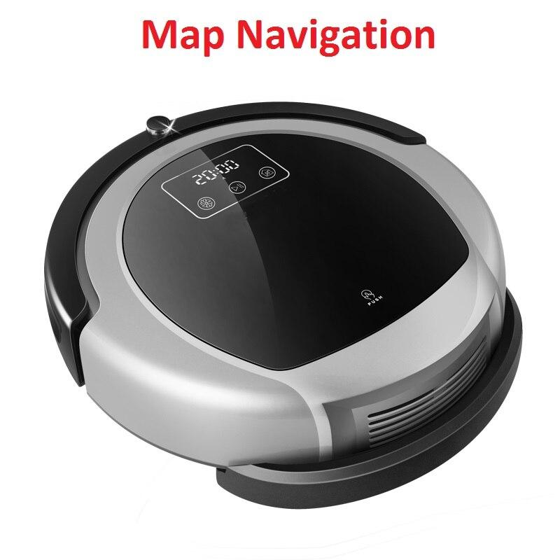 Roboter Staubsauger B6009, 2D Karte & Gyroskop Navigation, mit Speicher, Starken Sog, dual UV Lampe, 3D HEPA-filter, Nass Mopp