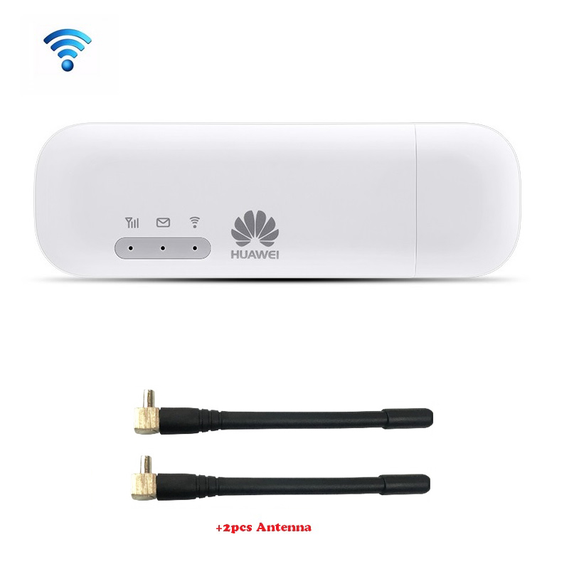 Huawei E8372 E8372h-153 HUAWEI LOGO with 2pcs Antenna 150M LTE USB Wingle LTE 4G USB WiFi Modem Unlocked(China)