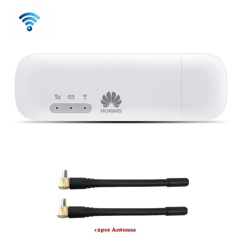 Huawei E8372 E8372h-153 HUAWEI LOGO avec 2 pcs Antenne 150 m LTE USB Wingle LTE 4g USB WiFi Modem débloqué