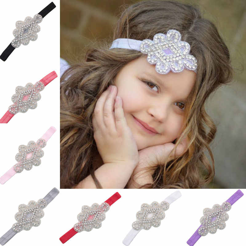 Naturalwell Fashion little Girl Hairband Headbands Kids Rhinestone Flower  Hair bands Bride Wedding Hair Accessories 1pc 4e382aa6b44d