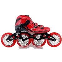 Скорость Inline kating город вулкан Скорость катание обувь красного цвета обувь на роликах с Tanwan трек катание колеса Q7 frame