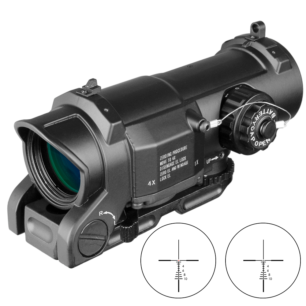 Tactical Wide Angle Scope 1x-4x Sight Fixed Dual Purpose Scope For Rifle Hunting Scopes For Rifle Caza