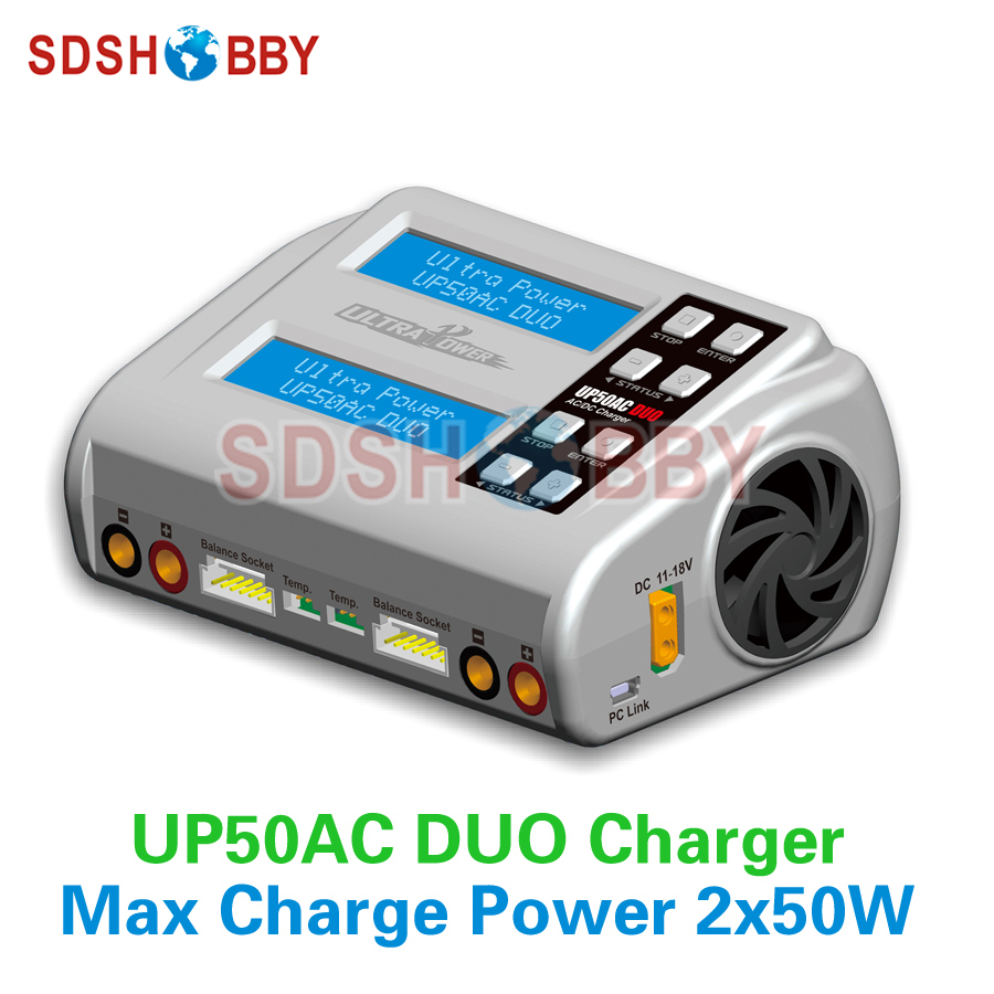 UP50AC DUO Charger 50W 100W RC Model Airplane Multicopter LiIo/LiPo/LiFe/LiHv/NiCd/NiMH/ Pb Battery Charger накладная раковина comforty 7811arw