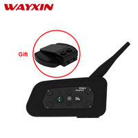 Wayxin   Helmet     Headsets   Intercom R6 Intercom Moto Bluetooth Communicator Motorcycle Motorcycle   Helmet   Communicator With Clip Set