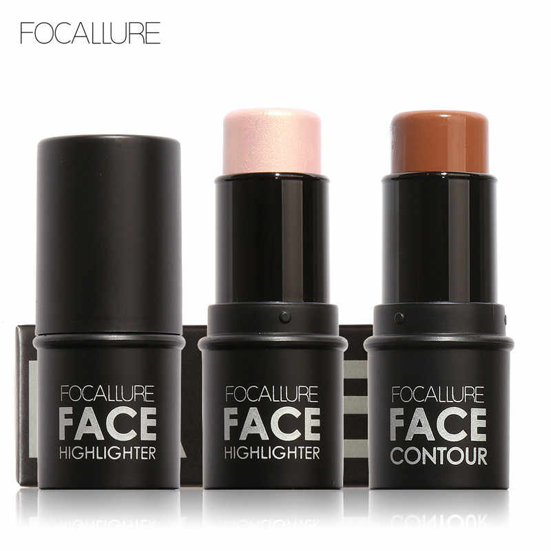 Focallure Highlighter stick Over Shimmer Highlighting Poeder Romige Textuur Water-proof Zilver Shimmer Light