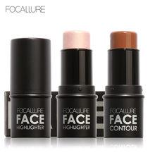FOCALLURE – bâton de maquillage à paillettes pour femmes, poudre scintillante, illuminateur, Texture crémeuse, cosmétiques