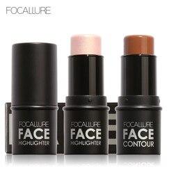 FOCALLURE Highlighter Makeup Glitter Contouring Bronzer For Face Shimmer Powder Creamy Texture illuminator Stick Women Cosmetics