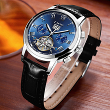 Relogio Masculino LIGE Brand Waterproof Business Watch Men Automatic Mechanical Watches Men's Leather Strap Casual Sport Clock