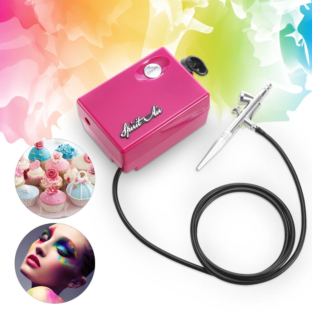 Geist Air 0,4mm Multi-zweck Airbrush Kompressor Spray Kunst Farbe Gun Kit Set Tragbare Airbrush Spray Gun für decor tattoos heißer