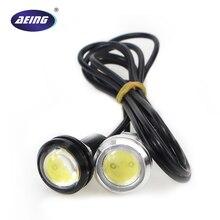 AEING 1 шт. 23 мм 12 В/24 В автомобильный Стайлинг водонепроницаемый белый орлиный глаз Светодиодный дневной ходовой светильник DRL резервный Обратный парковочный светильник