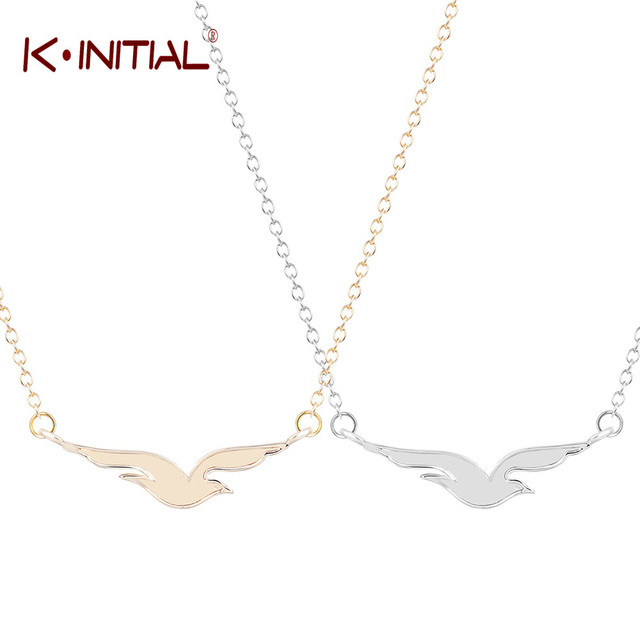 Kinitial 1pcs gold silver animal seagull bird pendant necklace charm kinitial 1pcs gold silver animal seagull bird pendant necklace charm collar jewelry for women teen girls mozeypictures Gallery