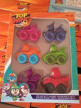 Figuras de acción de parte trasera del coche para niños, 6 unids/set, modelo de colección, muñecos, juguetes para niños, 2019
