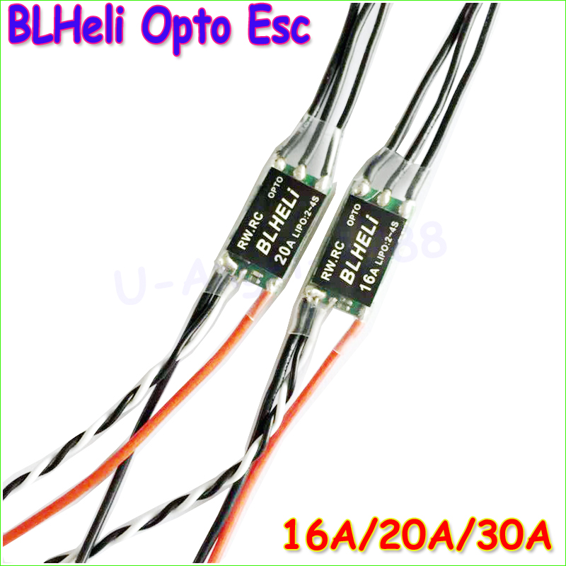 4pcs/lot 16A/20A/30A Mini BLHeli 14.2 OPTO mini 2-4s ESC For QAV250 voor diy multicopter quadcopter rc 250 alien drone Wholesale  4pcs 12a mini blheli brushless esc pwm 1 3s speed controller for qav250 diy rc quadcopter multicopter 250 drone zmr250