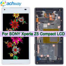 Için orijinal 4.6 LCD LSONY Xperia Z5 kompakt ekran LCD E5803 dokunmatik ekran digitizer E5823 LCD değiştirme için Z5 Mini LCD