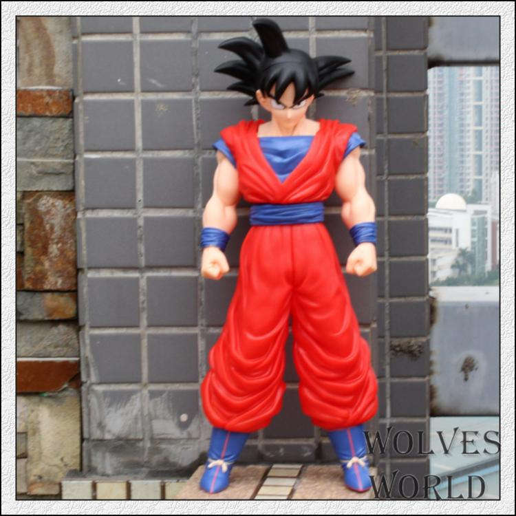 42cm anime Dragon ball z super saiyan son goku action figure pvc classic collection figure model toy doll garage kit Brinquedos anime dragon ball z son goku action figure super saiyan god blue hair goku 25cm dragonball collectible model toy doll figuras