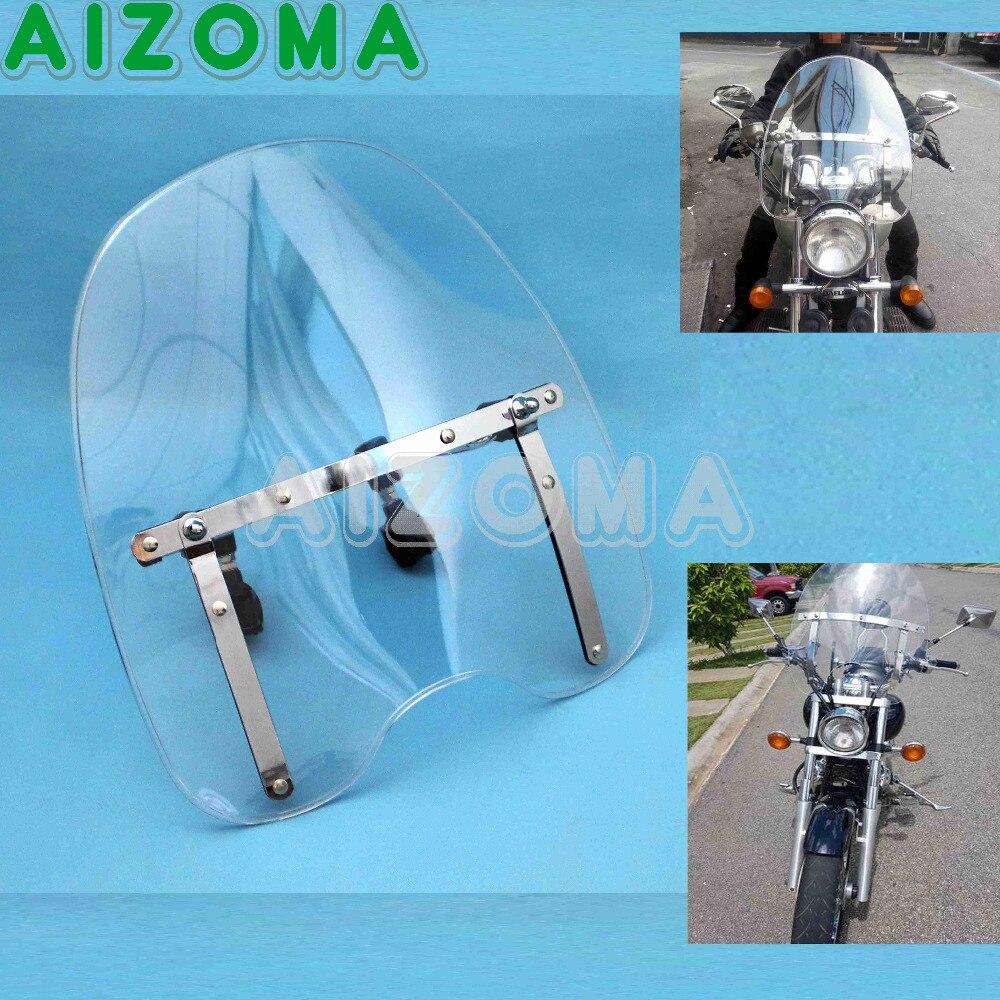 Pare-brise de moto Transparent normes pare-brise pour Suzuki Kawasaki Honda Yamaha v-max V Star Shadow ACE Aero croiseurs