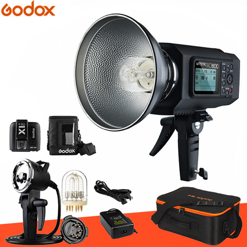 Free DHL! Newest Godox Wistro AD600 TTL All-in-One Powerful Outdoor Flash with 2.4G X System Build-in 8700mAh Li-on Battery цена