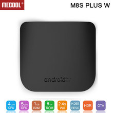 M8S PLUS W Android 7.1 TV Box Amlogic SoC 1GB 8GB 2.4G WiFi Support Stalker MAG25x ULTRA THIN Smart Media Player