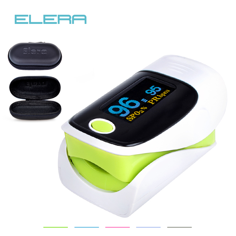 ELERA 10pcs/lot Digital Finger Oximeter,Pulsioximetro Blood oximetro Pulse Rate Monitor,Fingertip Pulse Oximeter With Pouch 2017 high promotion oled finger blood pulse rate heart rate monitor fingertip pulse oximeter rpo 8a oximeter monitor