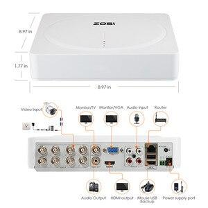 Image 4 - ZOSI 8CH 5MP H.265 + Sistema di Telecamere di Sicurezza (2TB HDD) W/8x HD 5MP(2560x1920) Outdoor/Indoor Night Vision Telecamere di Sorveglianza
