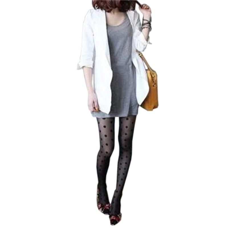 Buy HEALMEYOU Japan Style Dot Patterned Women Pantyhose Fashion Sweet Girl Black Sexy Tights Female Stocking Transparent Silk Tight