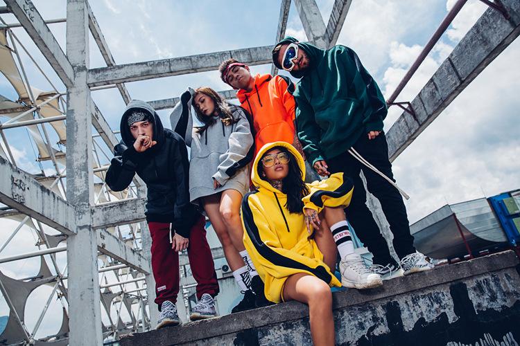 Aolamegs Hoodies Men Side Striped Hood High Street Pullover Cotton Fashion Hip Hop Streetwear Casual Big Pocket Hoodie Autumn (6)