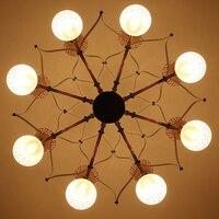 Современный творческий 16 глава подвесной светильник 8 руку Toolery E14 светодиодный лампы светодиодный droplight жизни дома осветительных приборов