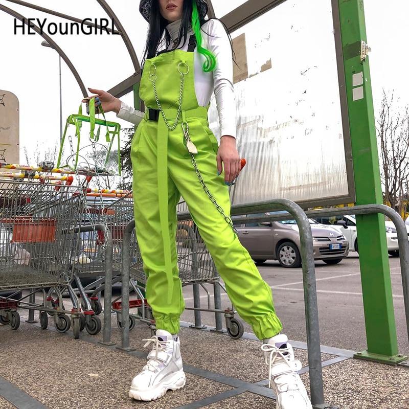 HEYounGIRL Punk Harajuku Canvas Belt For Women Casual Neon Green Ladies Waist Belt With Buckle Fashion Nuisex Cummerbund 2019