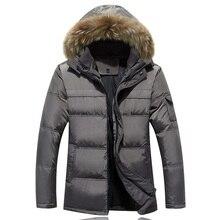 2016 Men Down Coat With Hood Coat Men Winter Jacket Men's Male White Duck Down Jacket Coat Down-Jacket Coats Plus Size