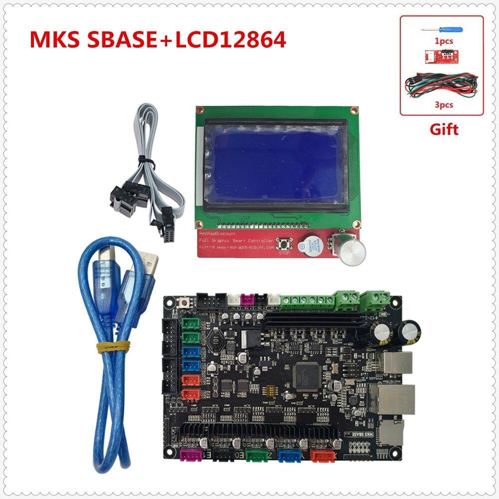 Impresora 3d MKS SBASE V1 3 smoothieware tarjeta madre todo en 1 Placa  incluye controlador de