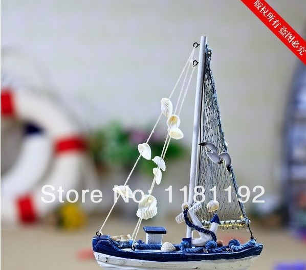 Home decoration wooden sailboat model decor craft accessories handmade wedding office decoration business gifts