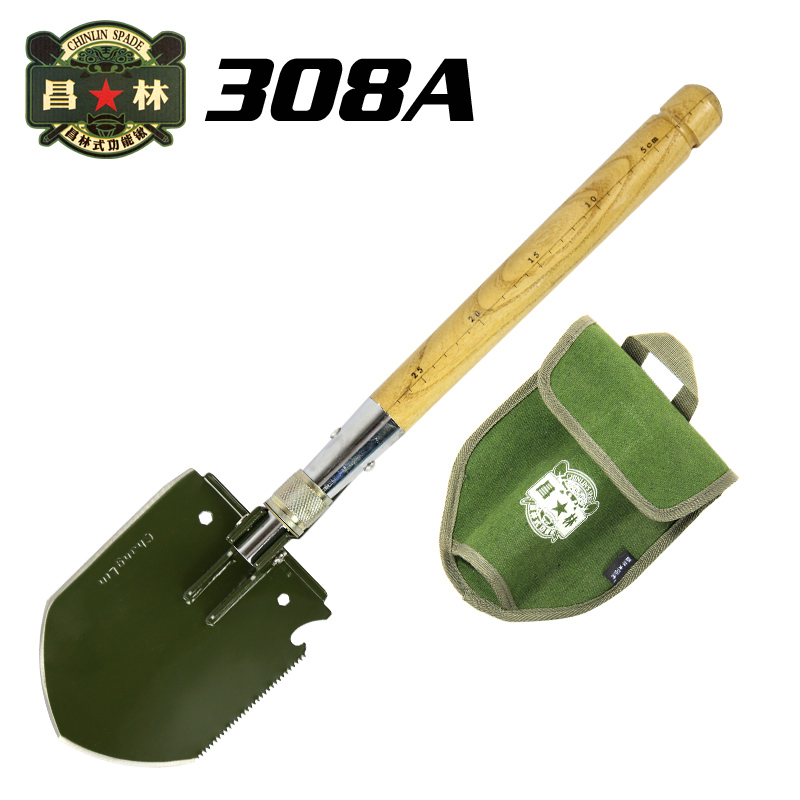 ФОТО Chinese Military Shovel WJQ-308A Survival Outdoor Tools Multifunctional Folding Camping Shovels Gardening Snow Pickaxes EDC Gear