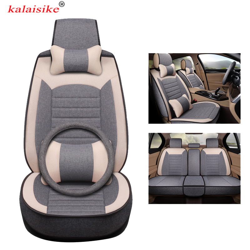 kalaisike universal Flax car seat covers for Hyundai all model solaris i20 getz accent ix25 Elantra