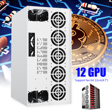 Crypto Coin Open Air Mining Frame Rig Graphic Case For 12 GPU BTC/ETH/Bitcoin DM for Mining Machine Compatible Durable SPTE