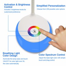 Living Color LED Table Lamp Touch Control Adjustable Brightness Multi-angles