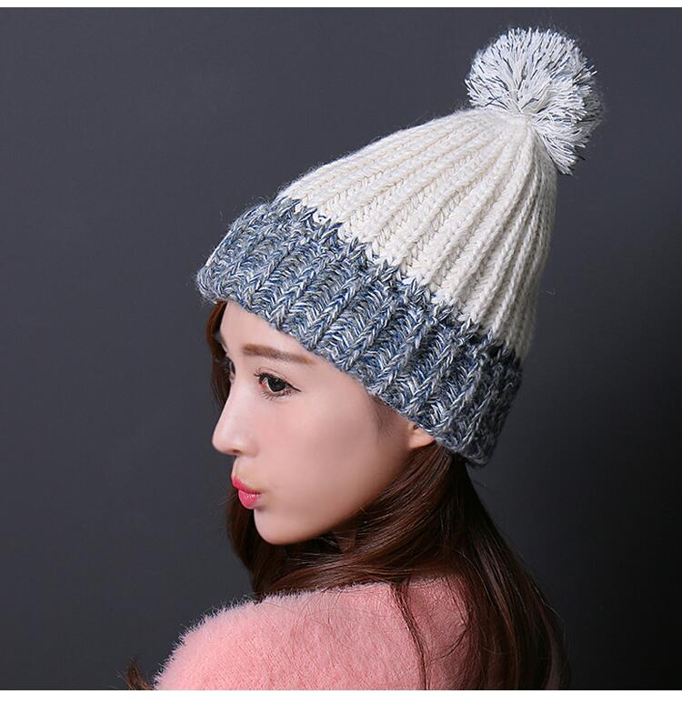 قبعة صوف دافئة نسائية 4